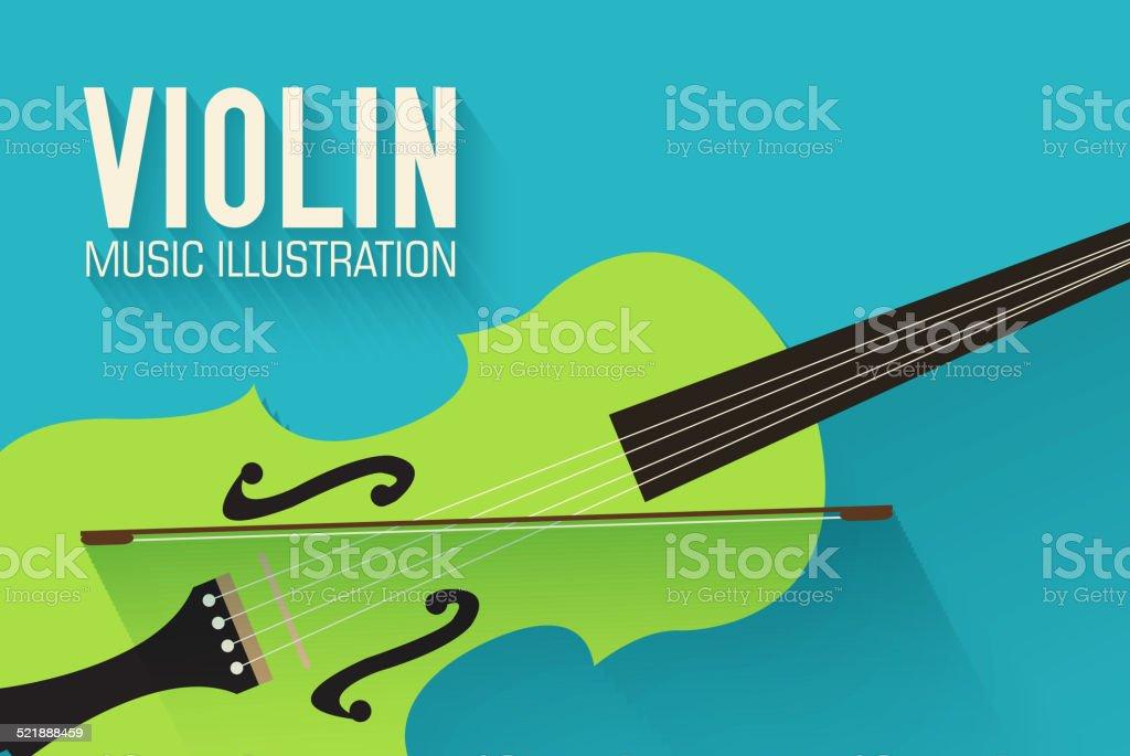 flat violin guitar vector background concept vector art illustration
