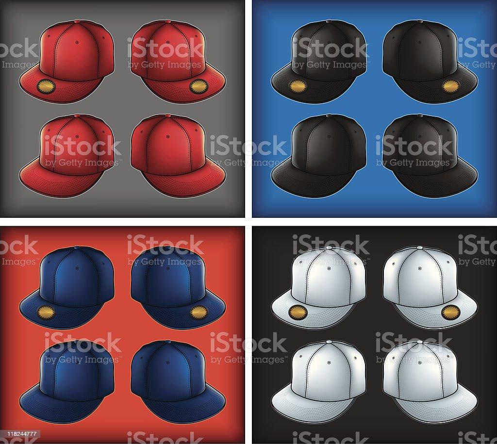 Flat Visor Caps royalty-free stock vector art