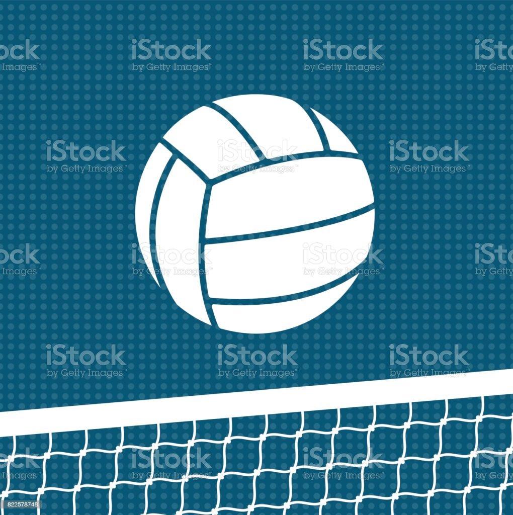 Flat volleyball background vector art illustration