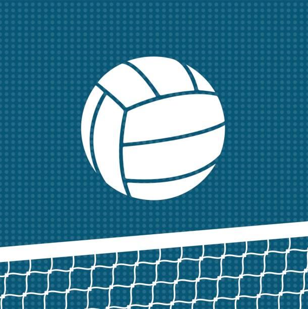 Fondo plano de voleibol - ilustración de arte vectorial