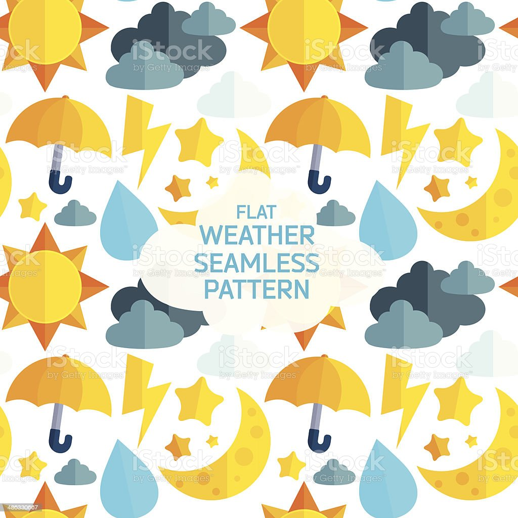 Flat weather colorful seamless pattern. royalty-free stock vector art