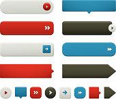 Flat Web Button Elements