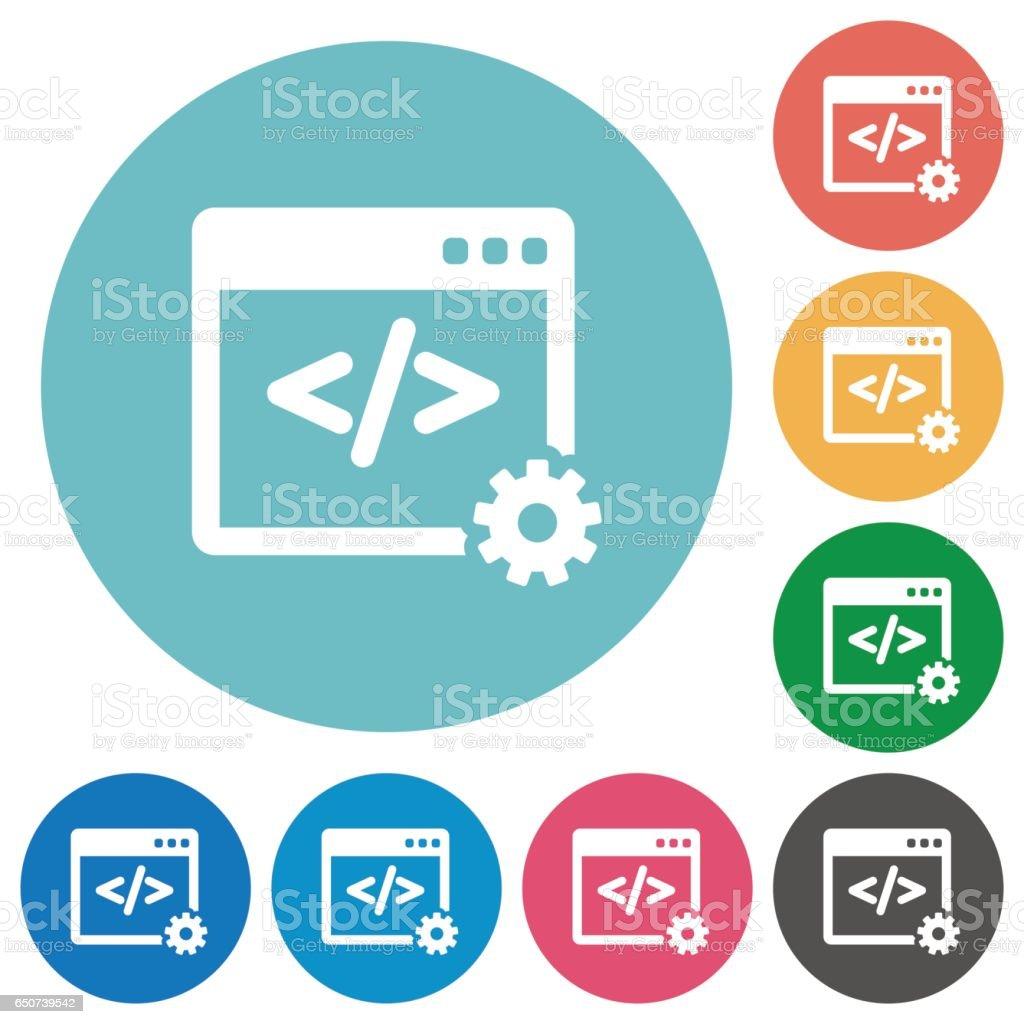 Flat web development icons vector art illustration