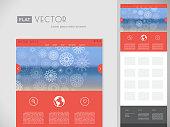 Flat website template. Vector design