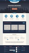 Flat Website Template