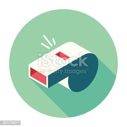 istock Flat Whistle Icon 501279277
