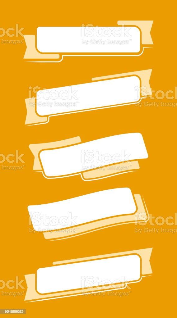 Flat white ribbons royalty-free flat white ribbons stock vector art & more images of abstract