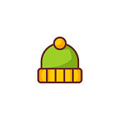 istock Flat Winter Hat Icon 1270429837