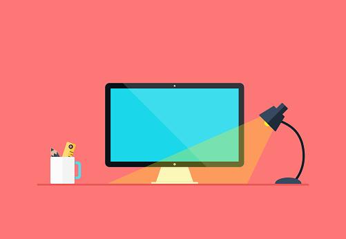Flat Workspace Background