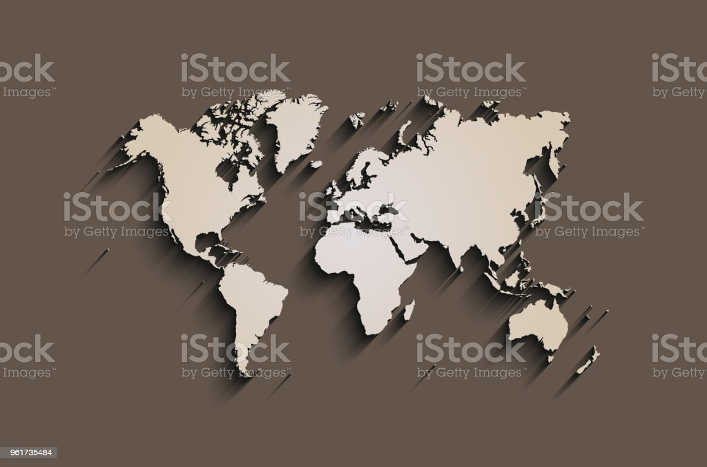Flat World Map Abstract Vector Background For Wallpaper Banner Stock ...