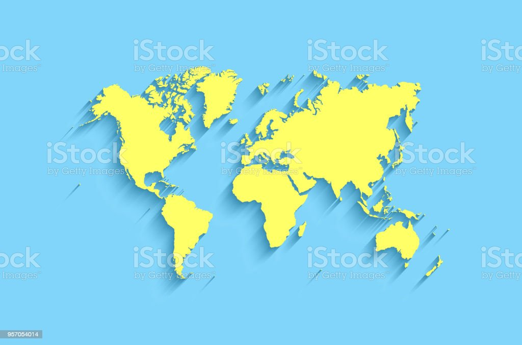 Flat World Map Abstract Vector Background For Wallpaper Stock ...