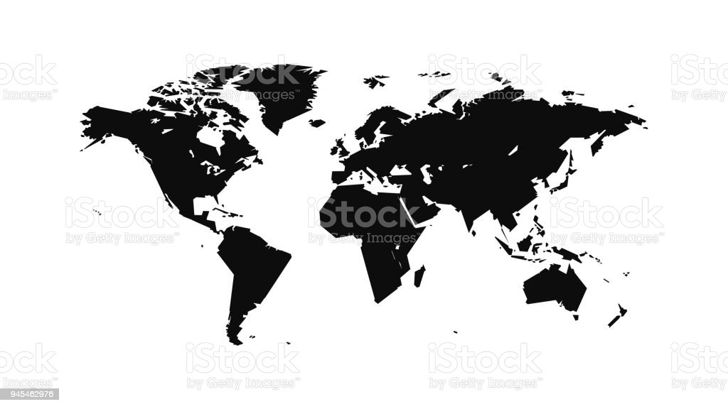 Flat world map stock vector art more images of abstract 945462976 flat world map royalty free flat world map stock vector art amp more images gumiabroncs Images