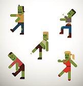 Flat Zombie Set