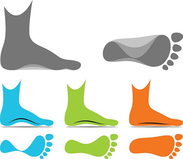 glina - ludzka noga stock illustrations