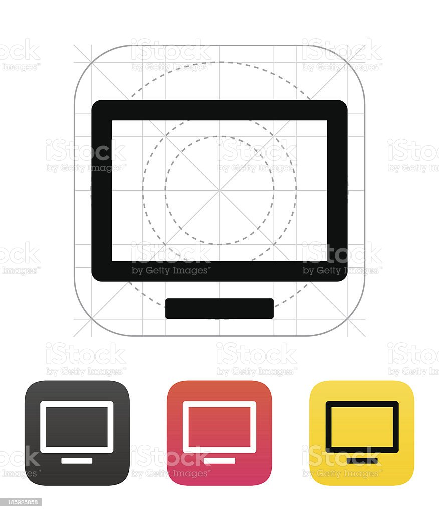 Flatscreen TV icon. Vector illustration. royalty-free stock vector art
