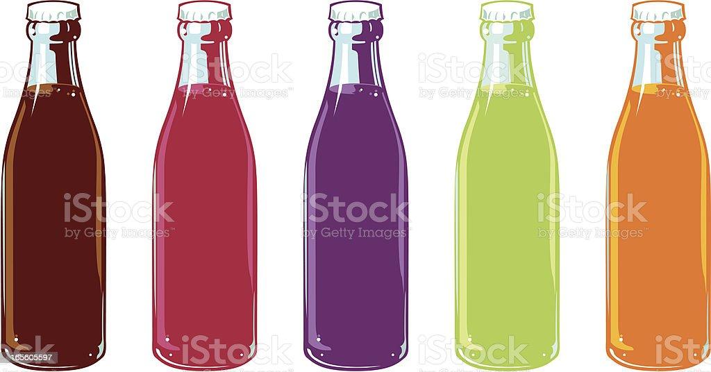 Garrafas de Refrigerantes com sabor - ilustração de arte em vetor