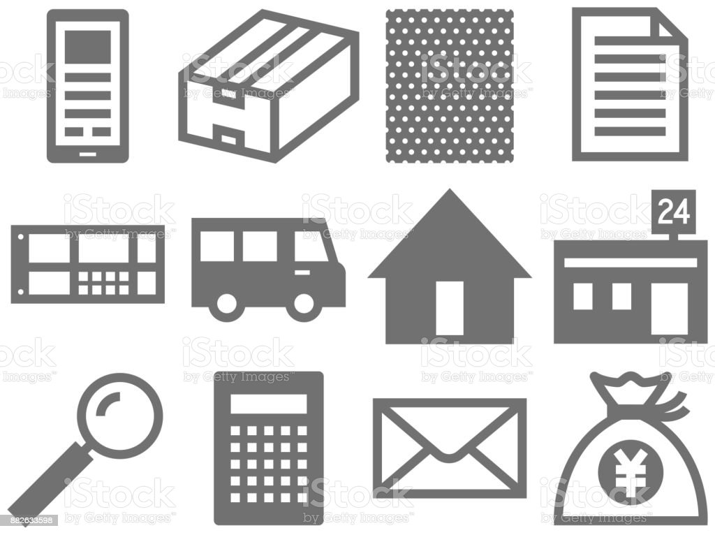Flea market icon vector art illustration