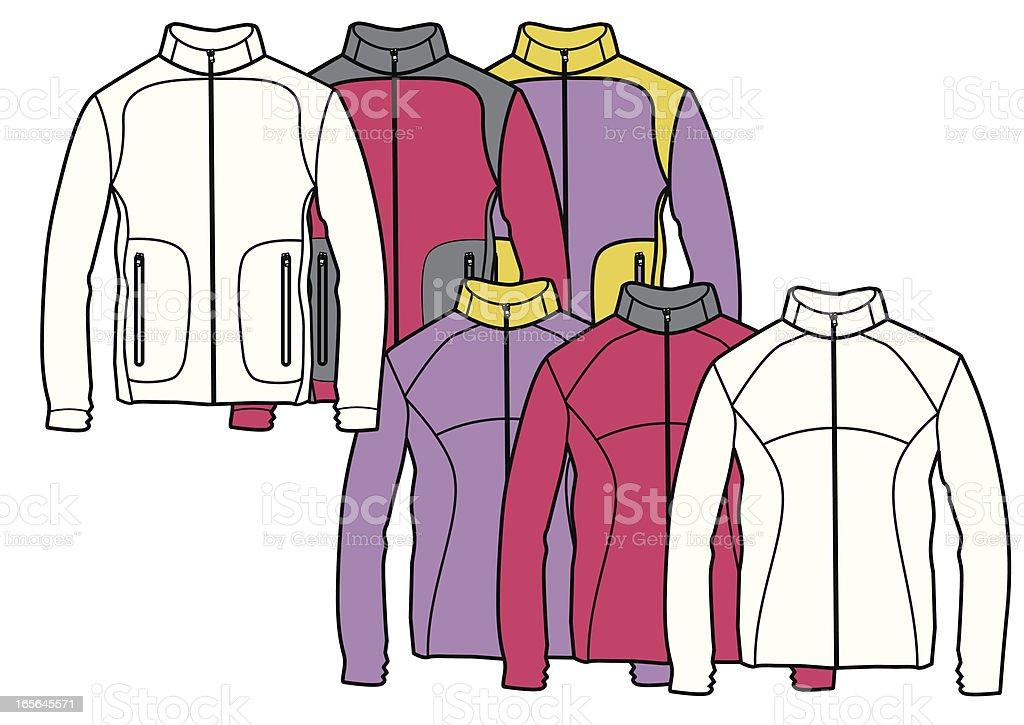 fleece jacket royalty-free stock vector art