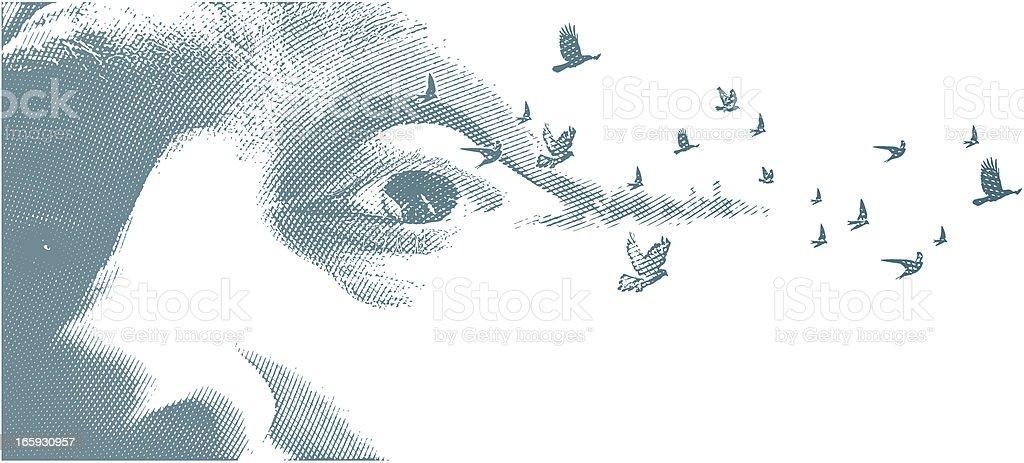 Fleeting Memories vector art illustration