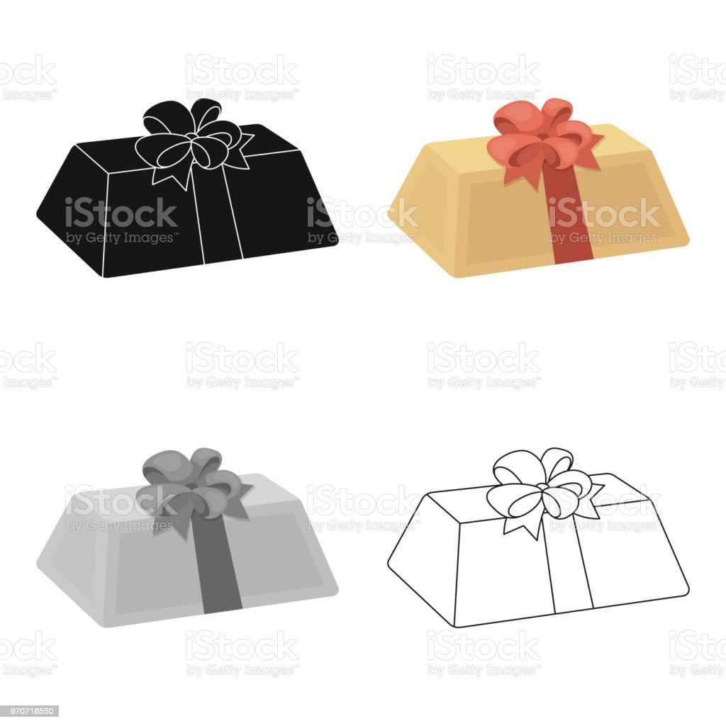 Eine Fleischfarbene Geschenk Mit Einer Roten Schleife Süßes Geschenk