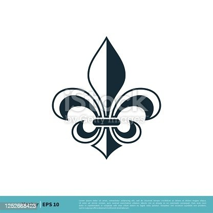 istock Fleur de Lis Heraldic Icon Vector Logo Template Illustration Design. Vector EPS 10. 1252668423