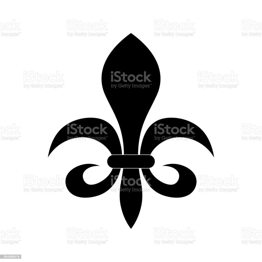 Fleur De Lis Heraldry Symbol Stock Vector Art More Images Of