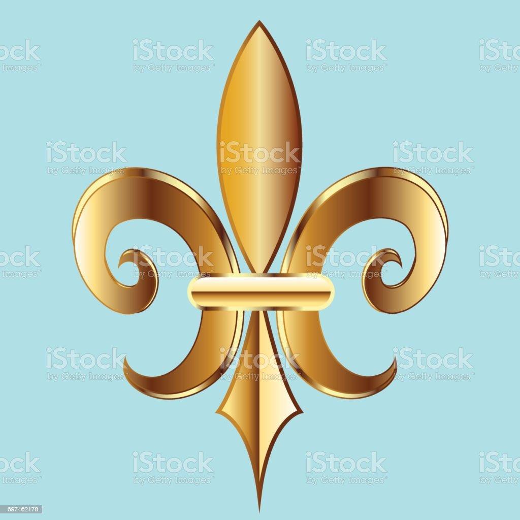 Fleur De Lis Symbol Flower Icon Stock Vector Art More Images Of