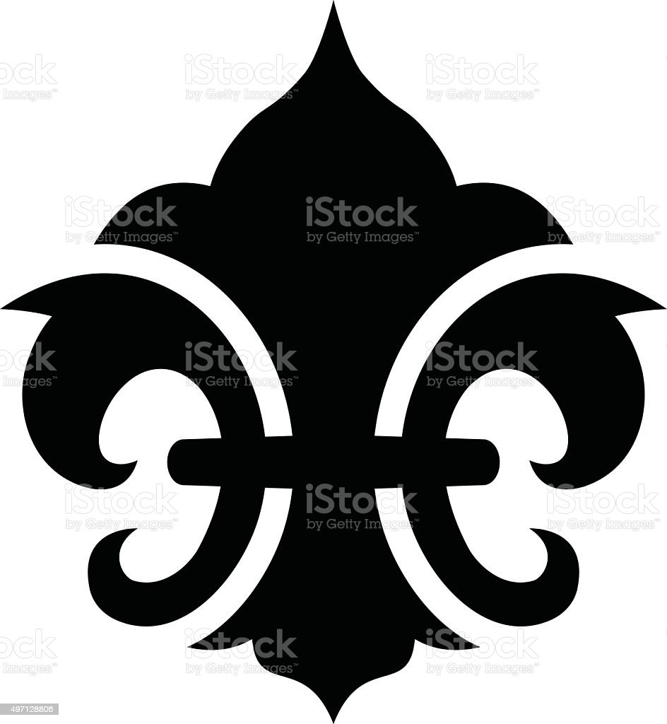 Fleur De Lis Symbol Stock Vector Art More Images Of 2015 497128806