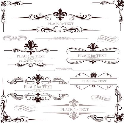 fleur de lys calligraphy design