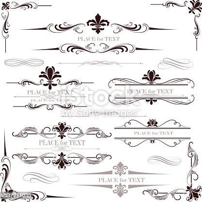 istock fleur de lys calligraphy design 537211035