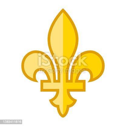 istock Fleur de Lys Icon on Transparent Background 1283411816
