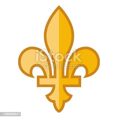 istock Fleur de Lys Icon on Transparent Background 1283590541