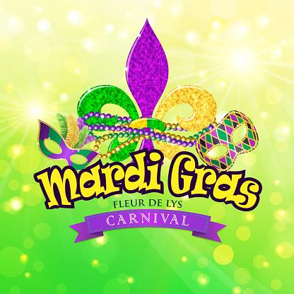 Fleur De Lys Mardi Gras Carnival