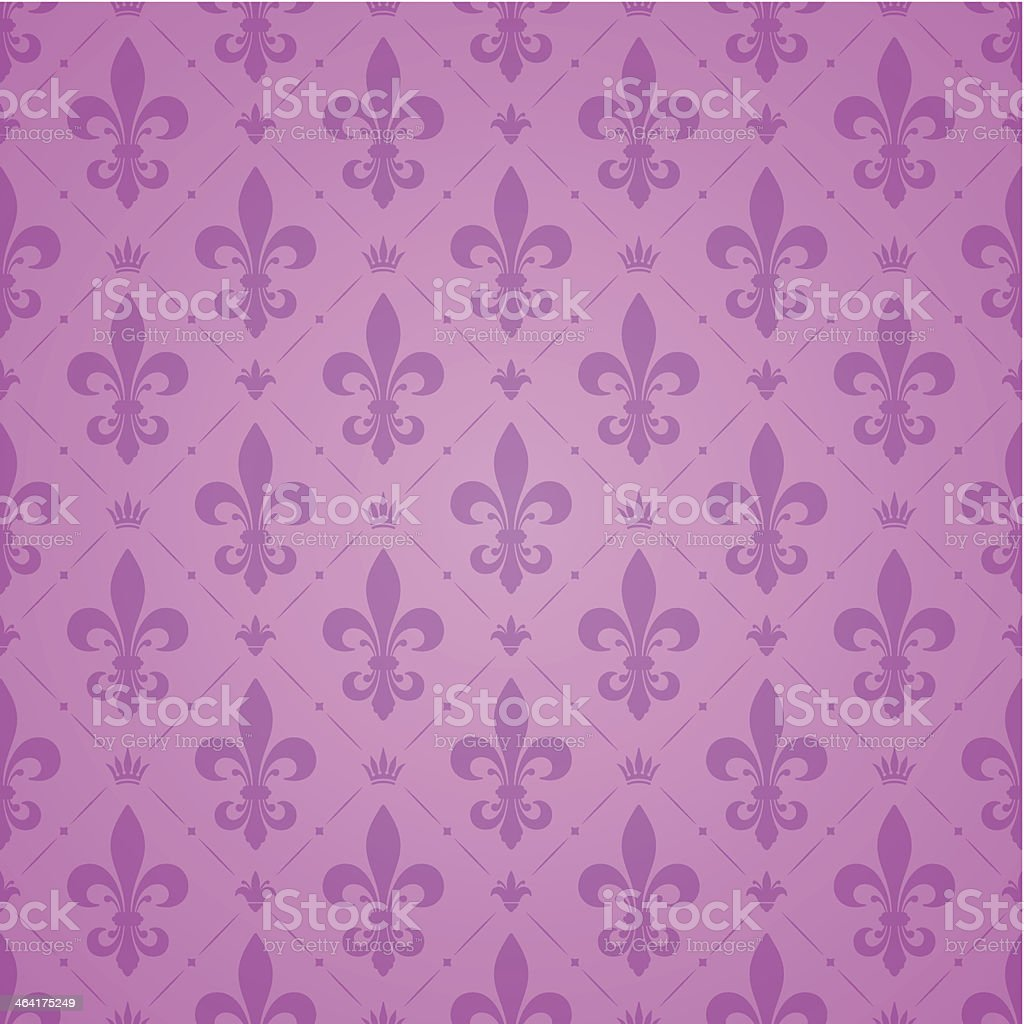 Fleur De Lys Pattern vector art illustration
