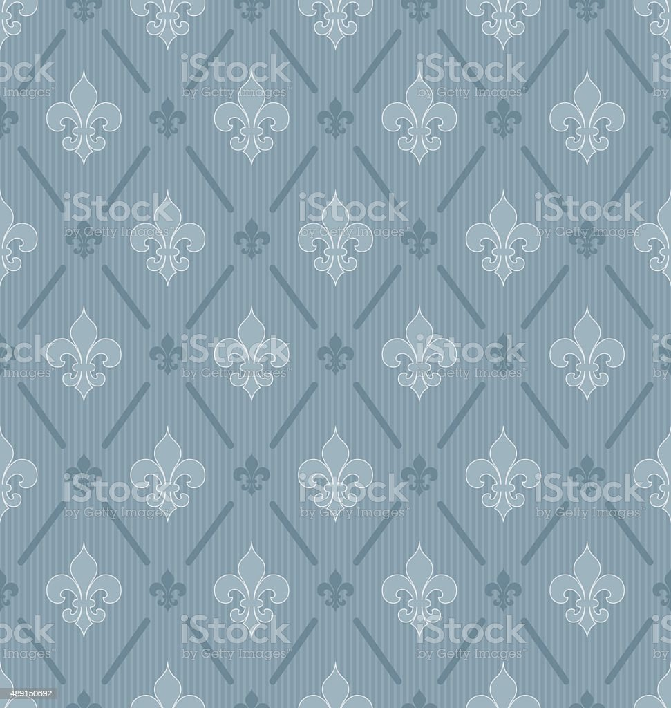 Fleur de lys seamless pattern. vector art illustration