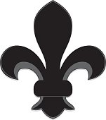 Fleur de Lys Symbol, Design Element: Black