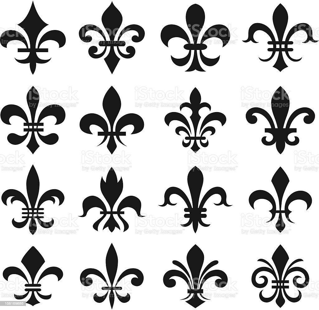 fleur de lys symbol vector art illustration