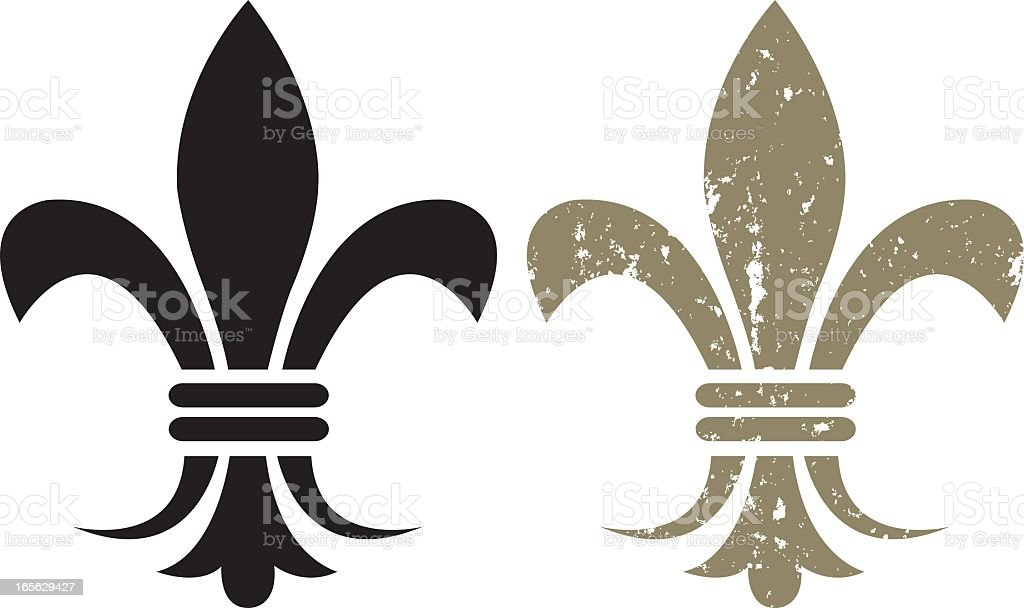Fleur De Lys vector art illustration