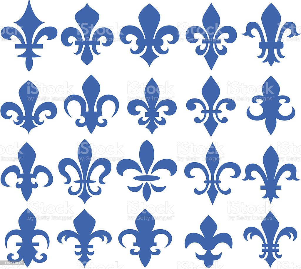 fleur de lis design vector art illustration
