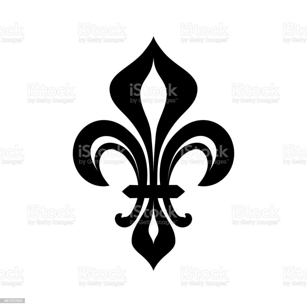 Fleurdelys Royal Heraldic Lily The Symbol Of Royal Power And The