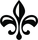 A fleur de lys-the classic icon. Don't be put off by the wobbly edge to the thumbnail-the artwork is smooth.