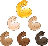 Flexed biceps hand emoji