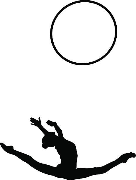 柔軟性 - 体操競技点のイラスト素材/クリップアート素材/マンガ素材/アイコン素材