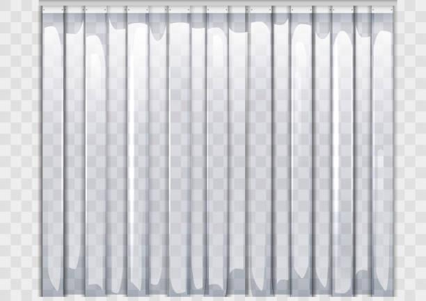 flexible plastikvorhang - stoffrollos stock-grafiken, -clipart, -cartoons und -symbole