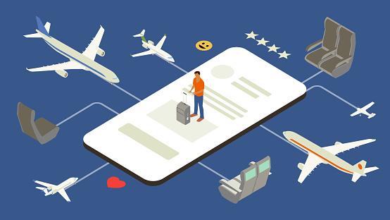 Flight app illustration