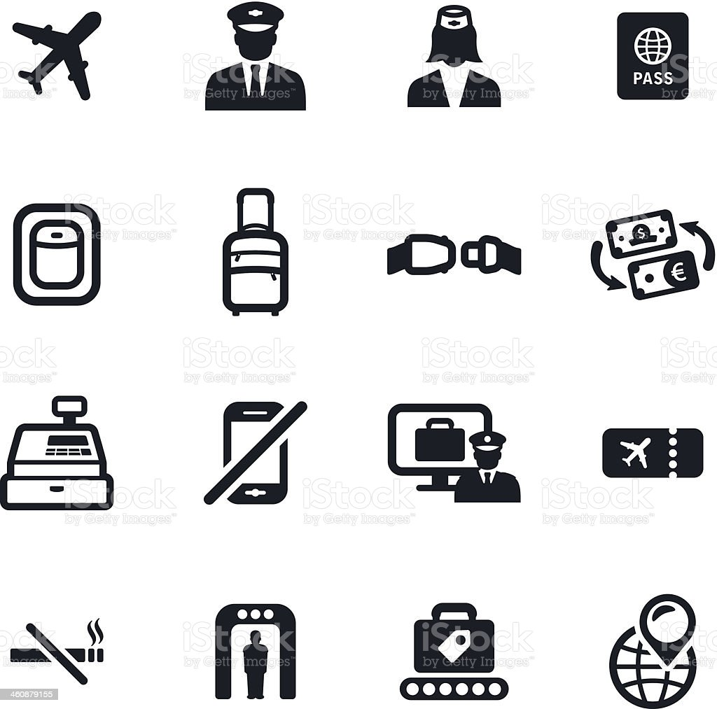 Flight Icons royalty-free flight icons stock vector art & more images of air stewardess