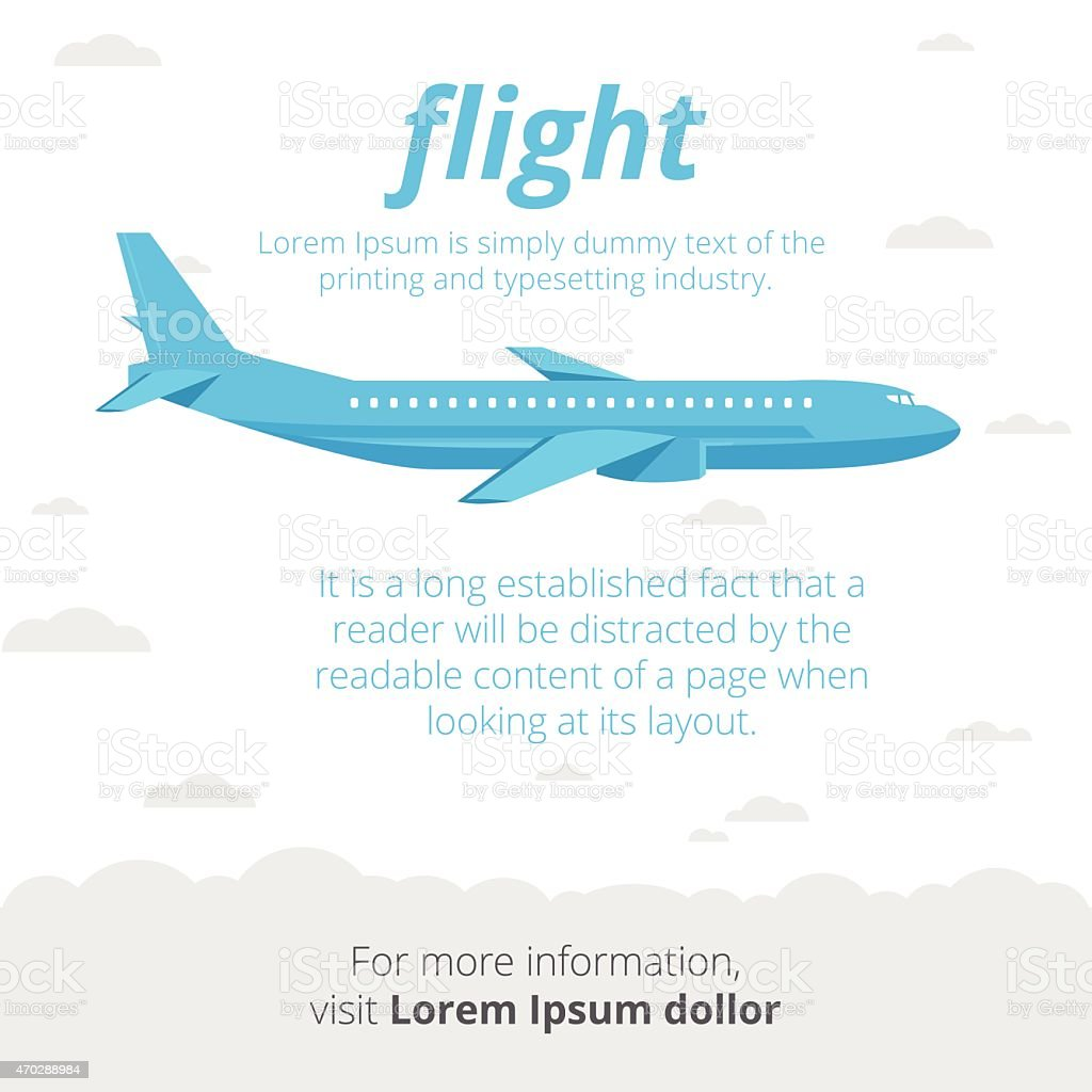 Flight illustration vector art illustration