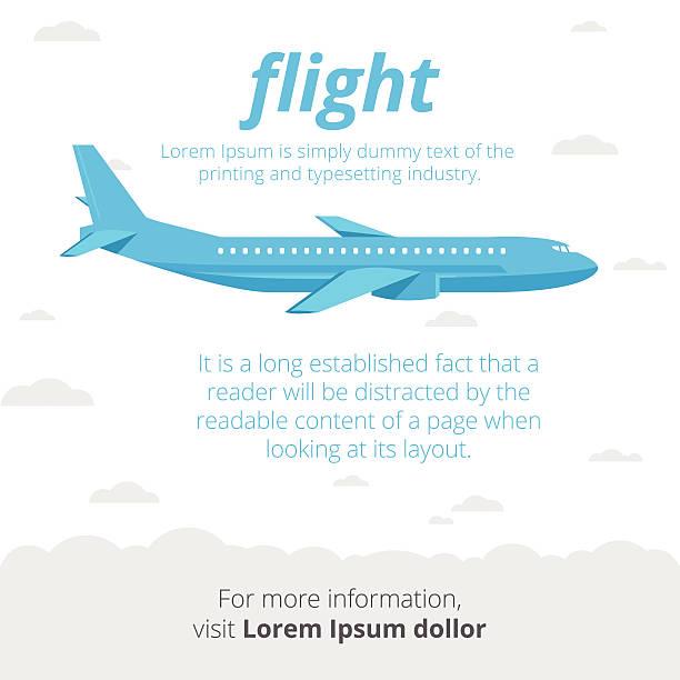 Flug Illustrationen – Vektorgrafik