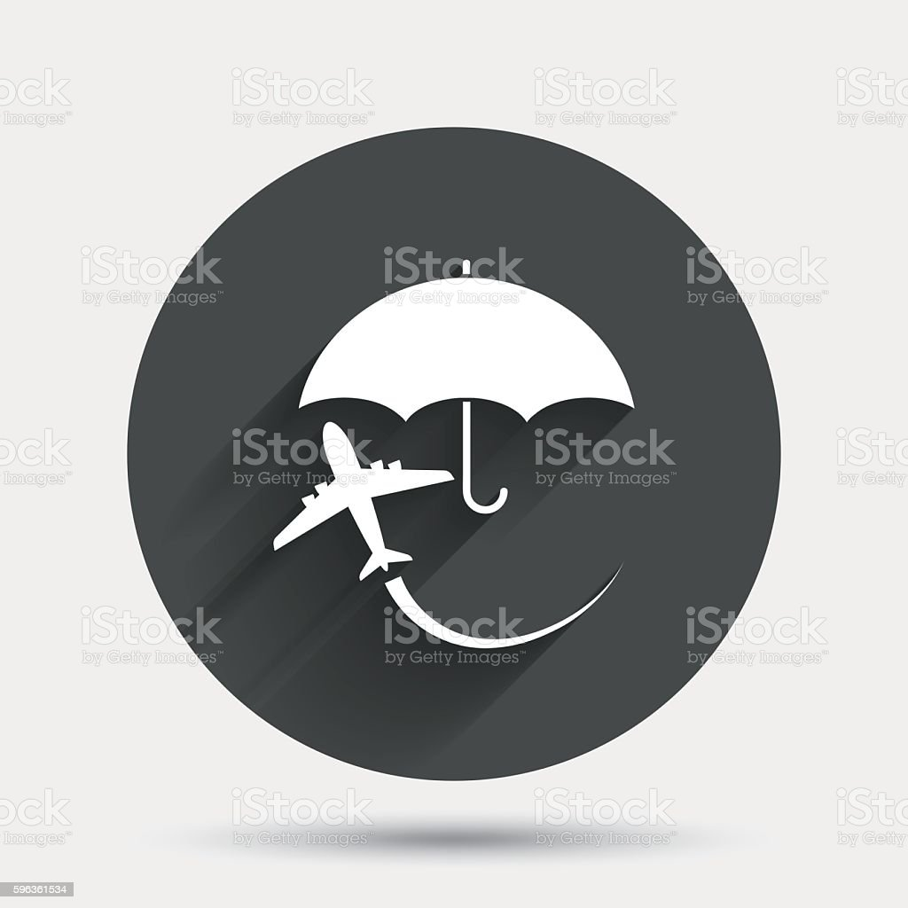 Flight insurance sign icon. Safe travel symbol. royalty-free flight insurance sign icon safe travel symbol stock vector art & more images of air vehicle