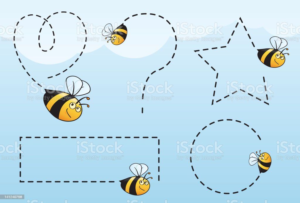 Flight of the Bees... vector art illustration